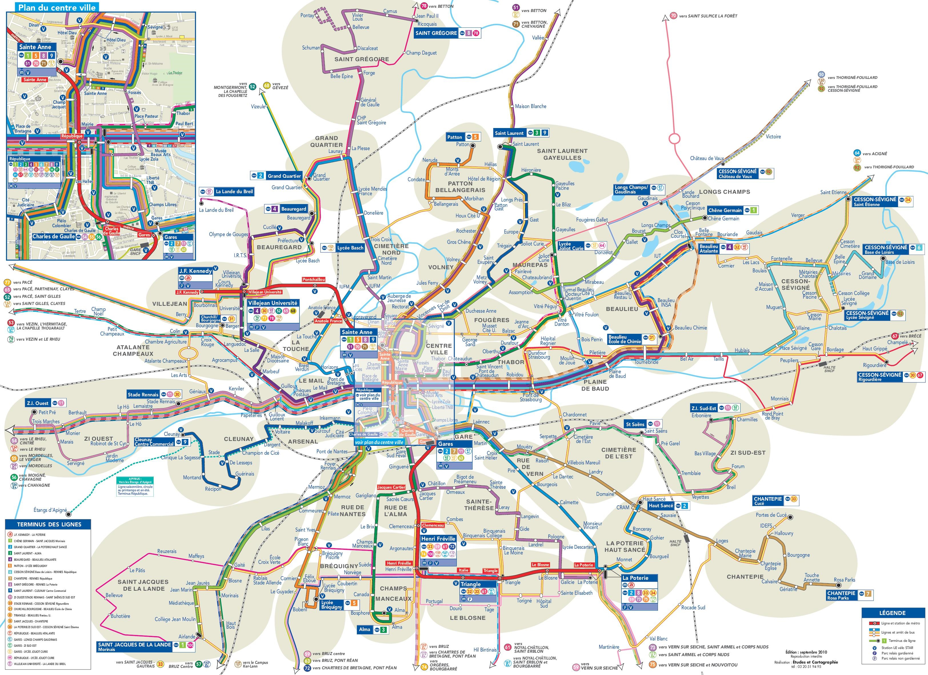 Bus Poitiers Nantes Rennes Transport Map
