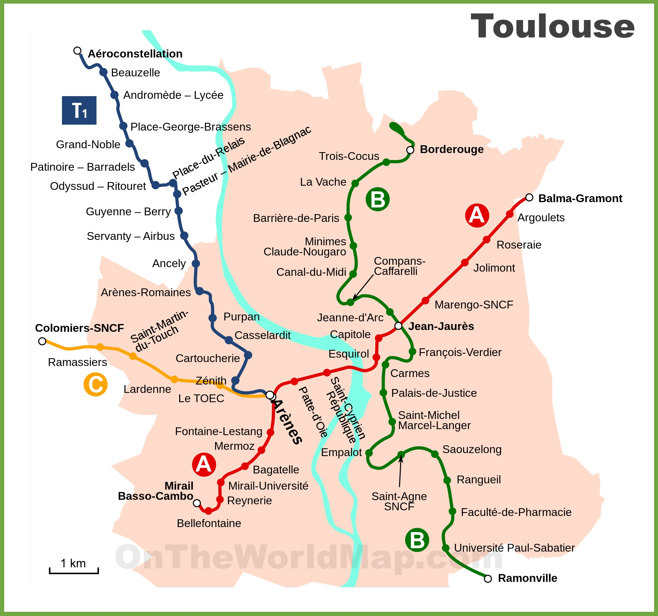 Bus Toulouse Avignon Toulouse Metro And Tram Map