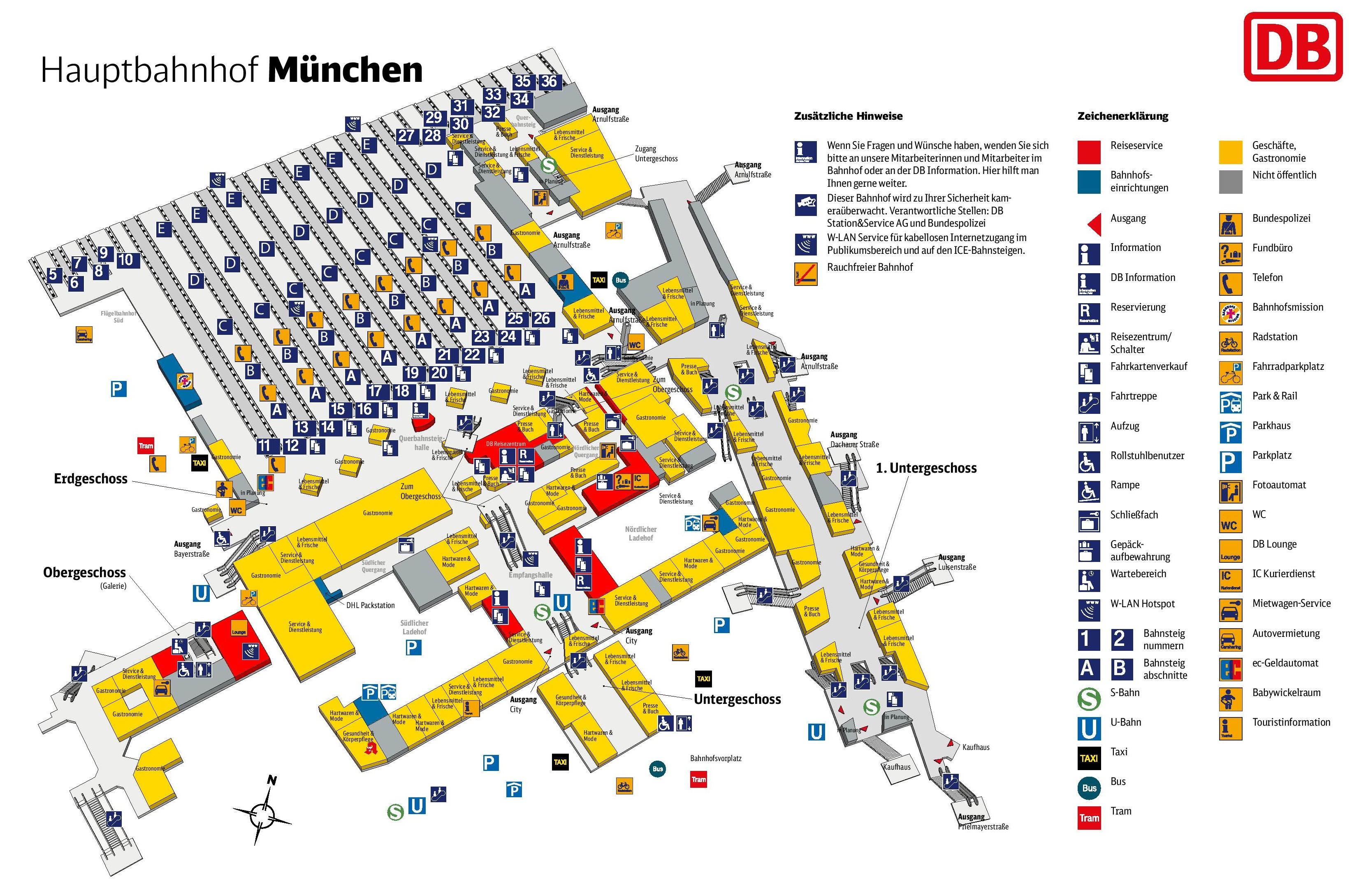 Osnabrück Maps Munich Hauptbahnhof Map Central Train Station