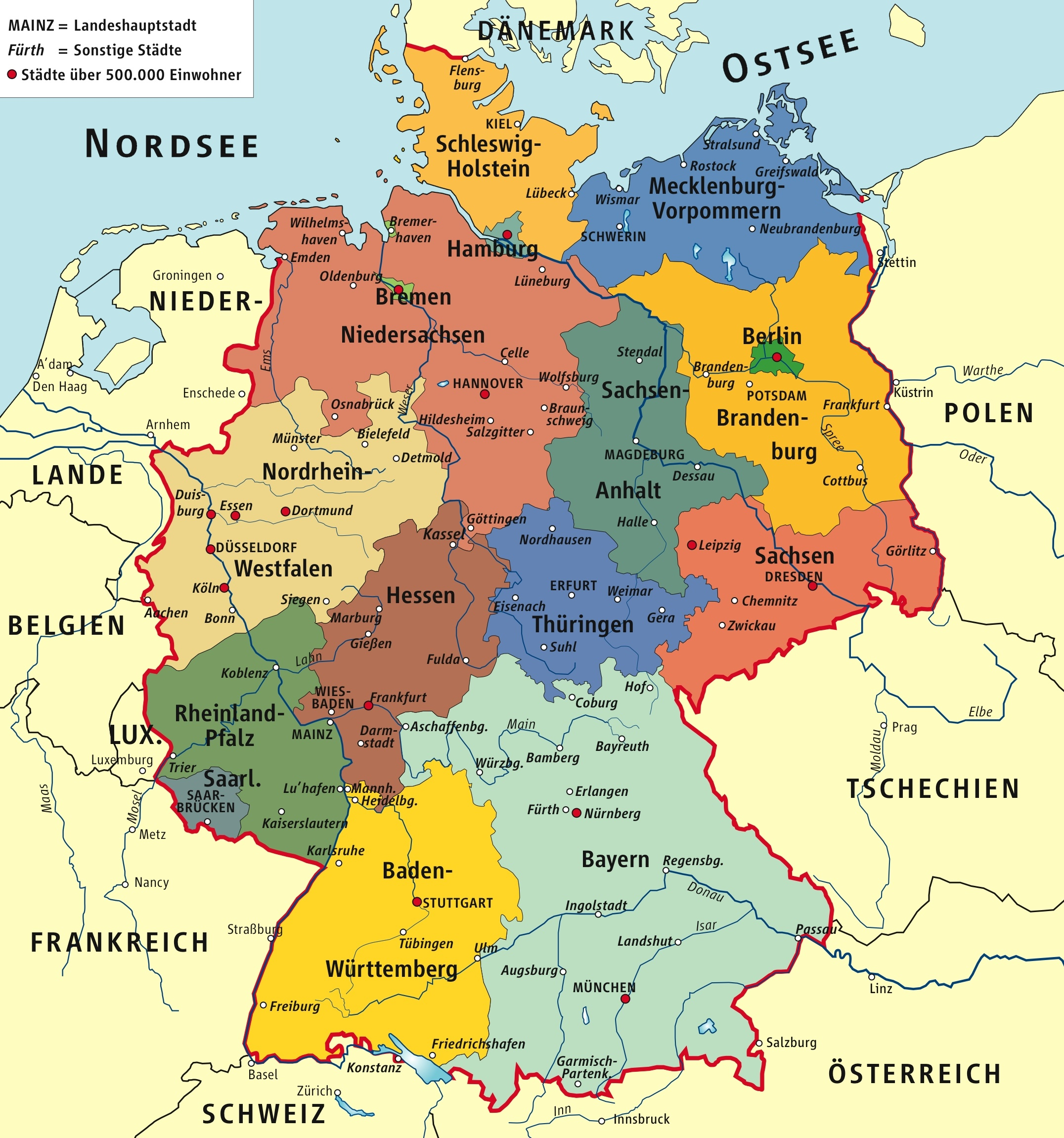 Karlsruhe Maps Germany Political Map