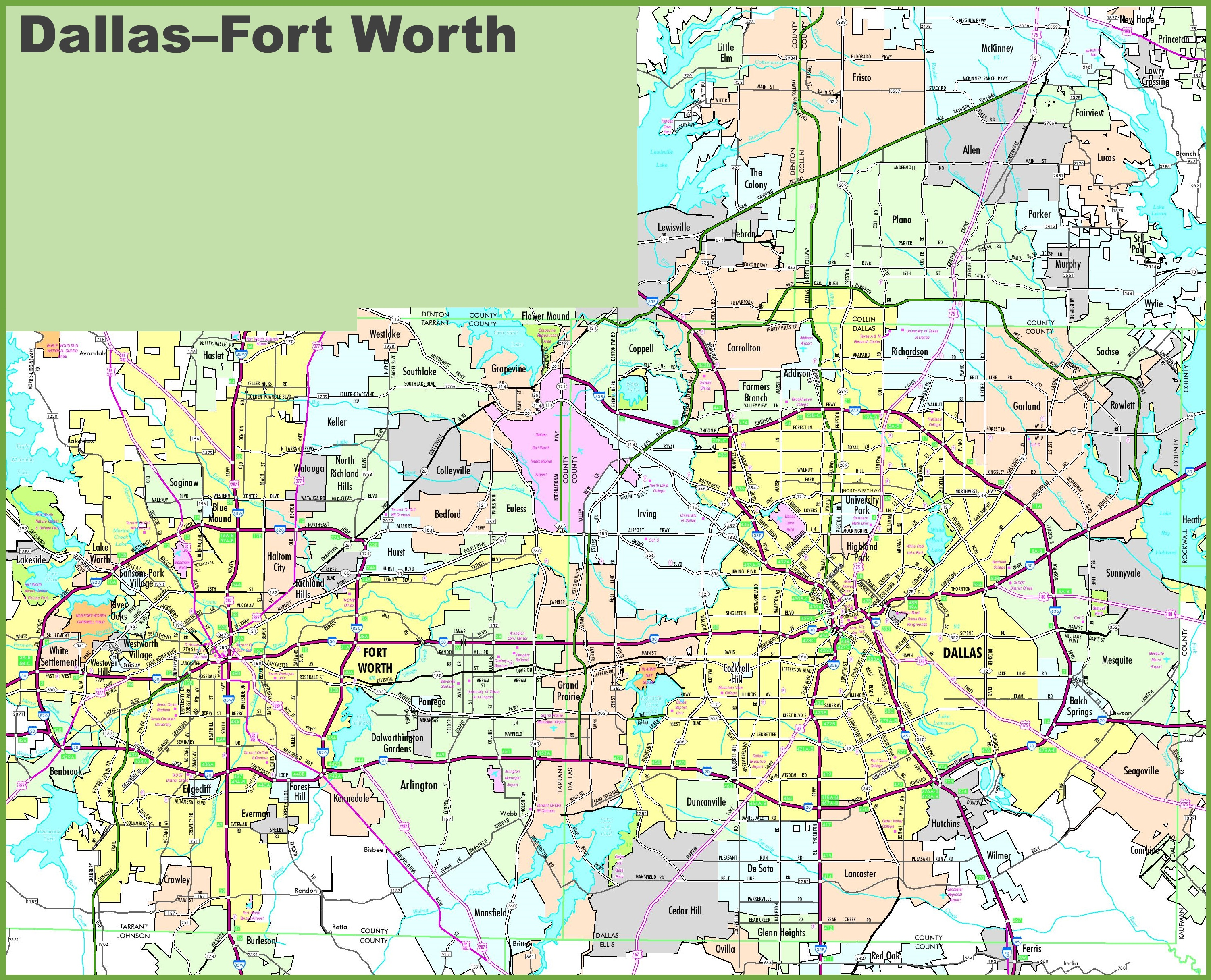 dallas area map dallas area road map dallas area road map dallas