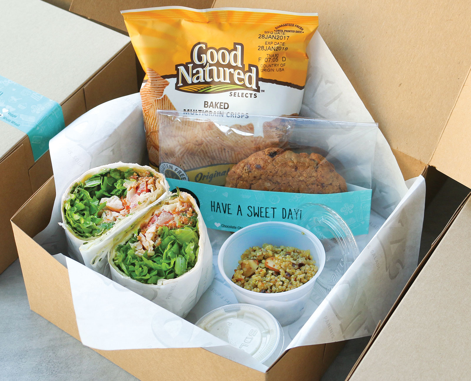 Lunch In A Box Lunch In A Box Onze Paninis Soups Salads