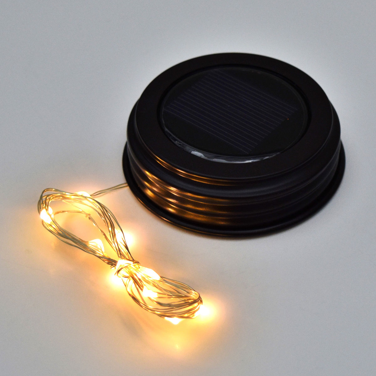 Lid And Jar Fairy Lights Led Mason Jar Lid Solar Powered