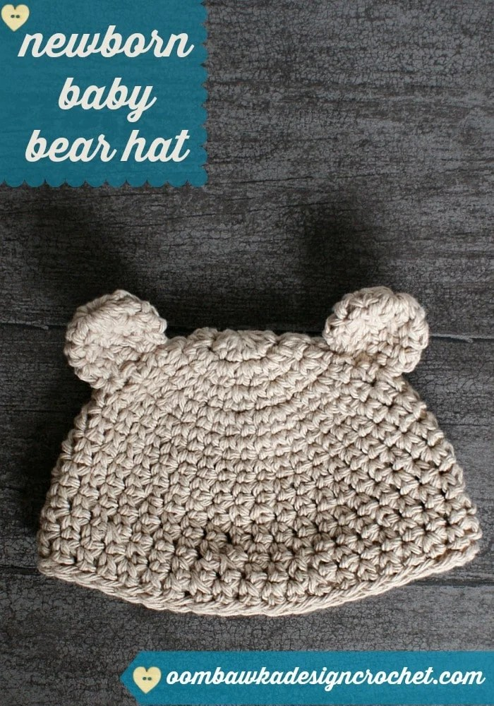 Crochet Stitches Esc : Newborn Baby Bear Hat ? Oombawka Design Crochet