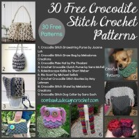 30 Free Crocodile Stitch Crochet Patterns