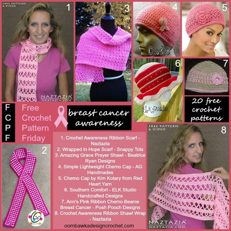 Breast Cancer Awareness Crochet Patterns Oombawka Design ...