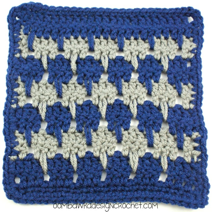 Crochet Stitches Larksfoot : Larksfoot Stitch Afghan Square