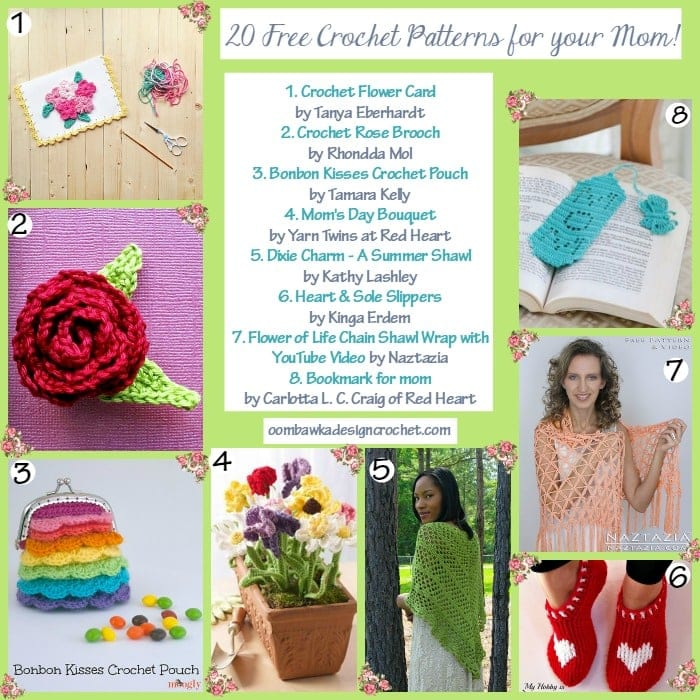 20 Free Crochet Patterns for Mothers Day! Oombawka ...
