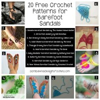 20 Free Crochet Patterns for Barefoot Sandals