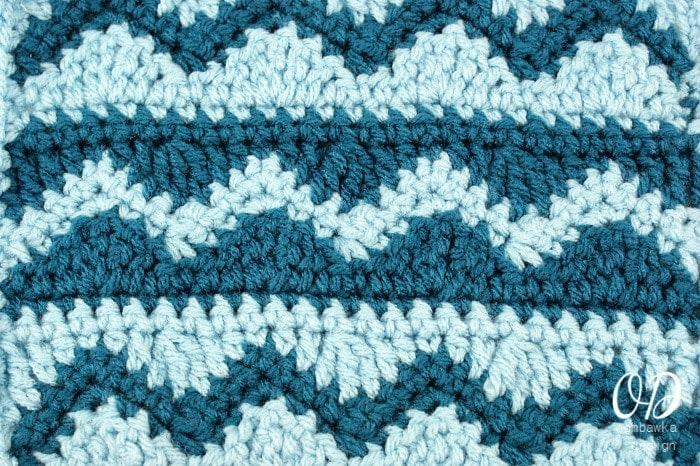 Crochet Stitches Wave : abbreviations r row sc single crochet hdc half double crochet