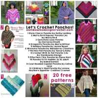 Let's Crochet Ponchos! 20 Free Patterns.