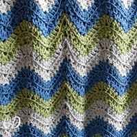 Tranquil Waves Ripple Blanket