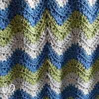 Tranquil Waves Ripple Blanket