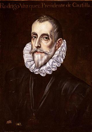 Rodrigo Vázquez de Arce y Menchaca Villavela Ibáñez y Menchaca, natural de Avila, Presidente del Real Consejo de Hacienda