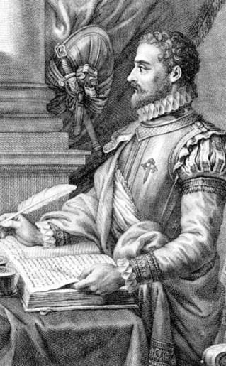 Alonso de Ercilla y Zuñiga Caballero de Santiago