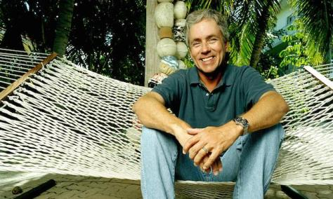 Carl Hiaasen at home in Florida