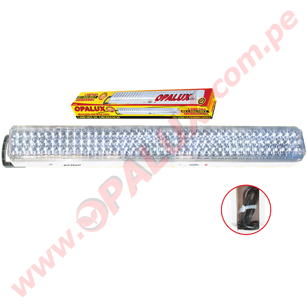Lamparas De Emergencia Led Hb 812 Luz De Emergencia De 120 Led 10hrs Rectangular Opalux