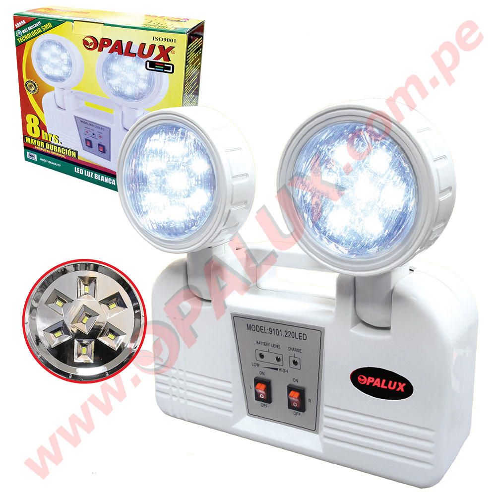 Lamparas De Emergencia Led 9101 220 Led Luz De Emergencia Opalux 14 Led 8 Hrs Original Nuevo