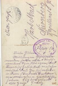 Feldpostkarte Erster Weltkrieg Auf höheren Befehl