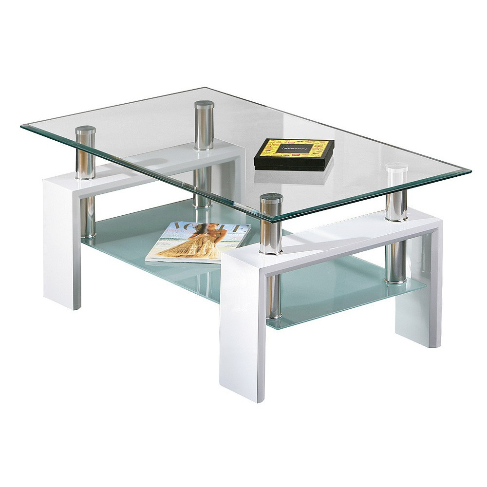 Design Glastisch Couchtisch Table-basse-design-de-salon-alva-blanche