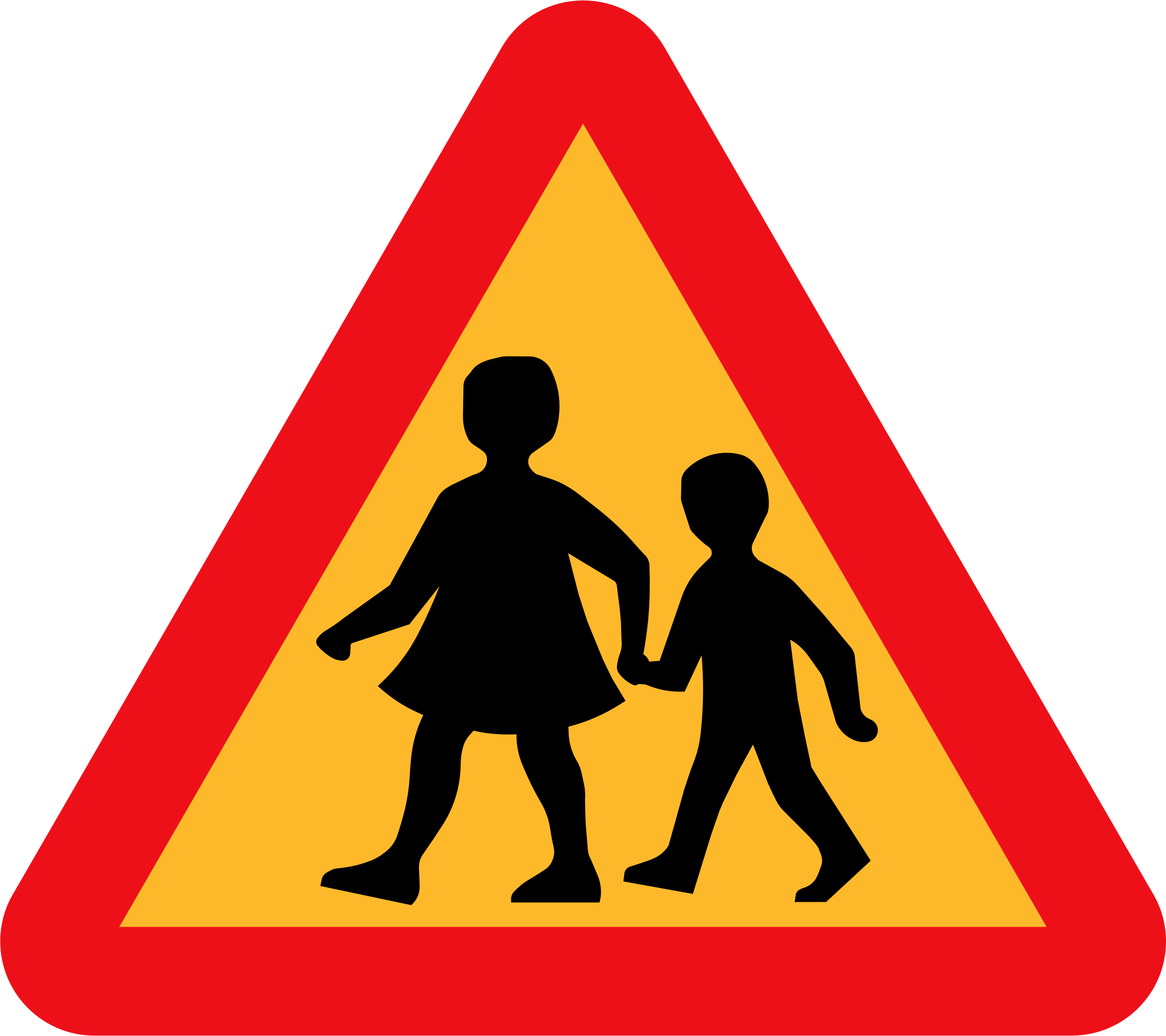 Road Crossing Clipart Clipart Children Crossing Road Sign