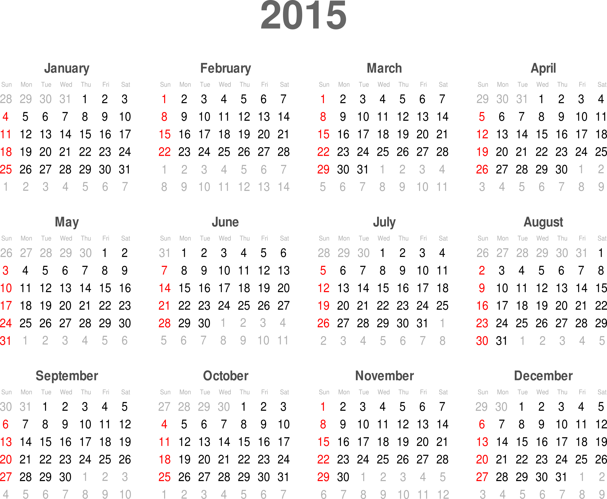 Generate Month Calendar Image Calendar Create Monthly Calendars From Your Photographs Clipart Calendar 2015