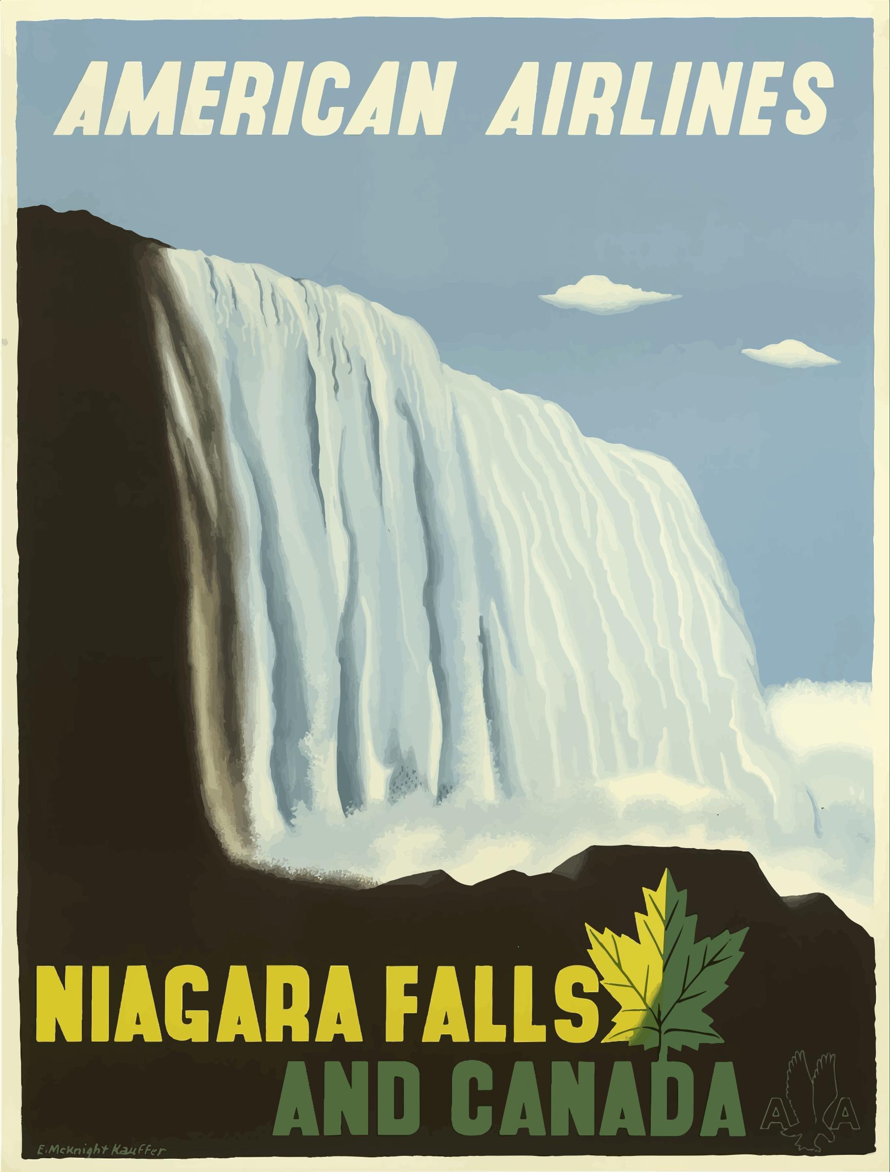 Niagara Falls Wallpaper Free Download Clipart Vintage Travel Poster Niagara Falls And Canada