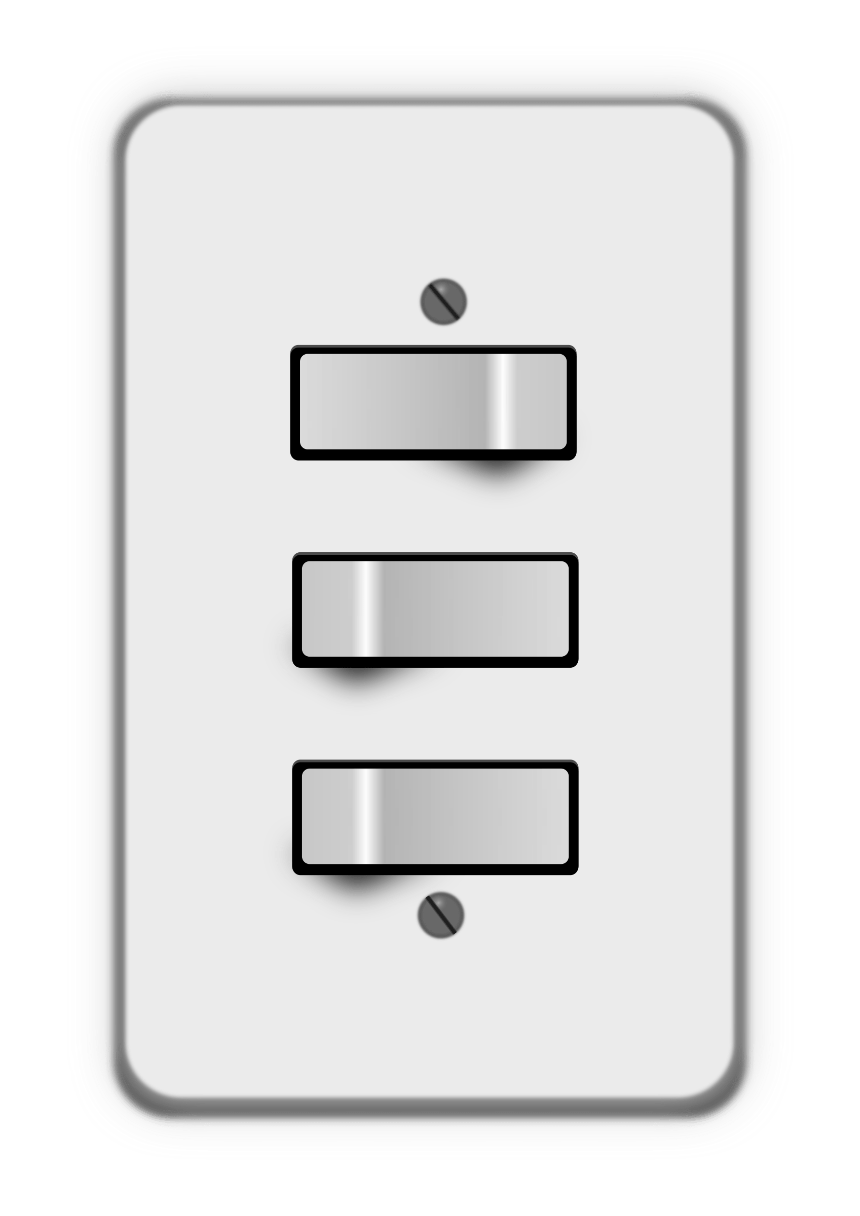 Light Switch Off Clipart Clipart Light Switch 3 Switches One Off