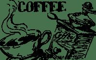 Clipart - Hand Drawn Coffee Line Art