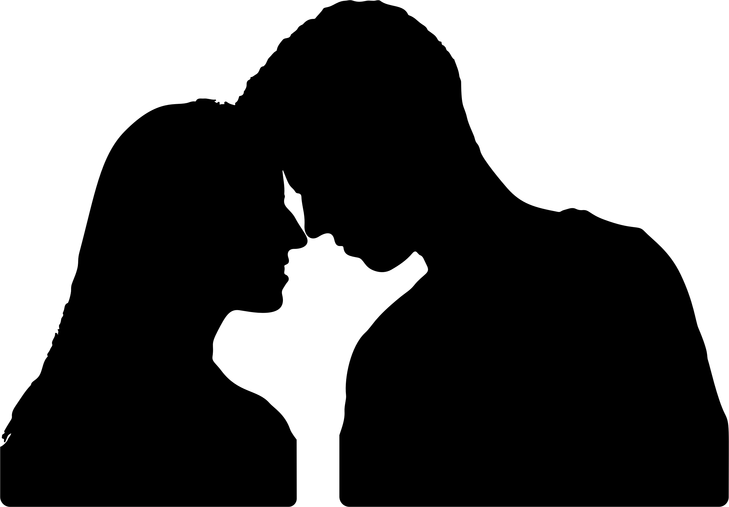 Baby Girl Hd Wallpaper Download Clipart Couple Touching Foreheads Silhouette