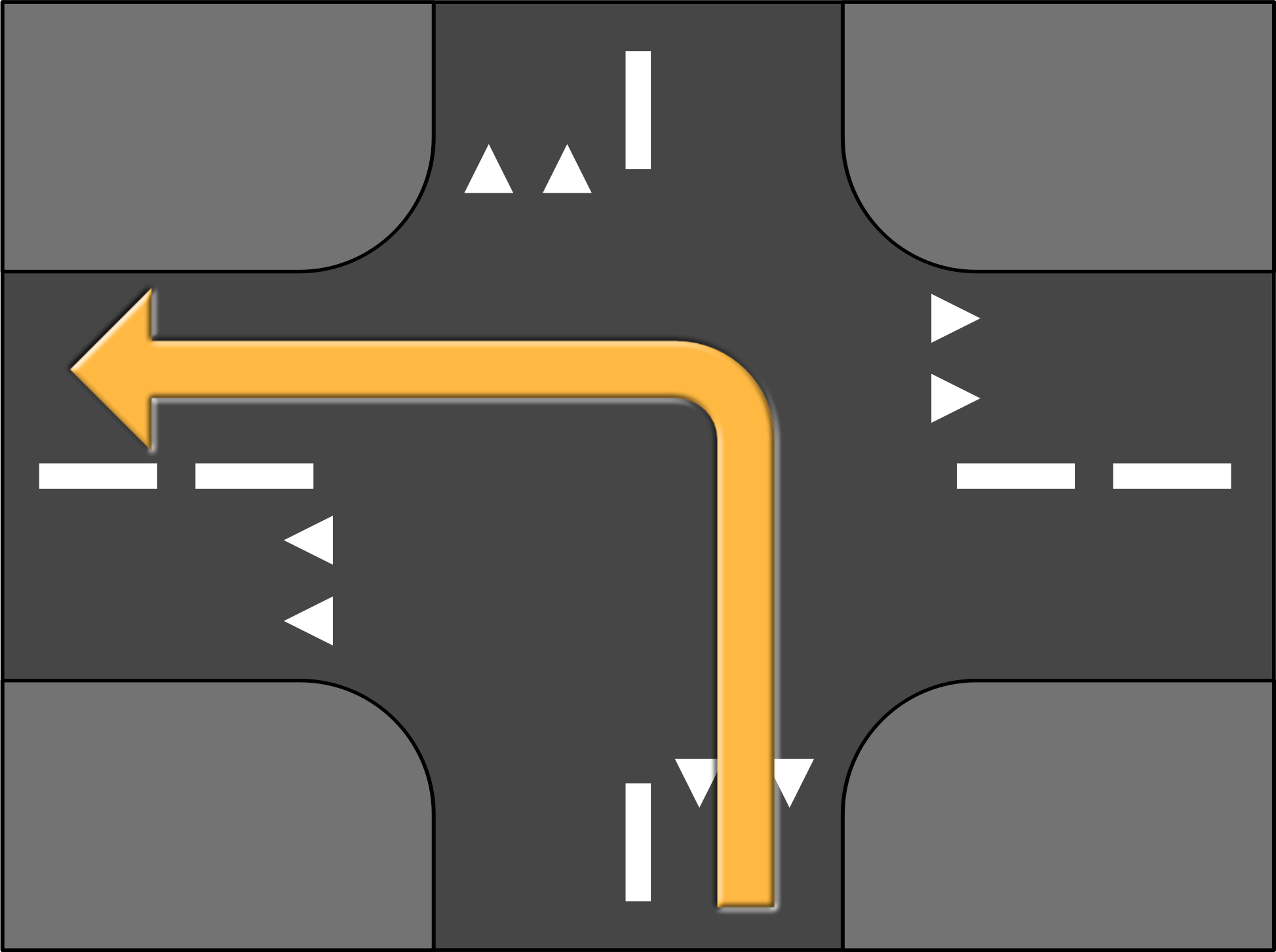 Road Crossing Clipart Clipart Road Crossing Turn Left