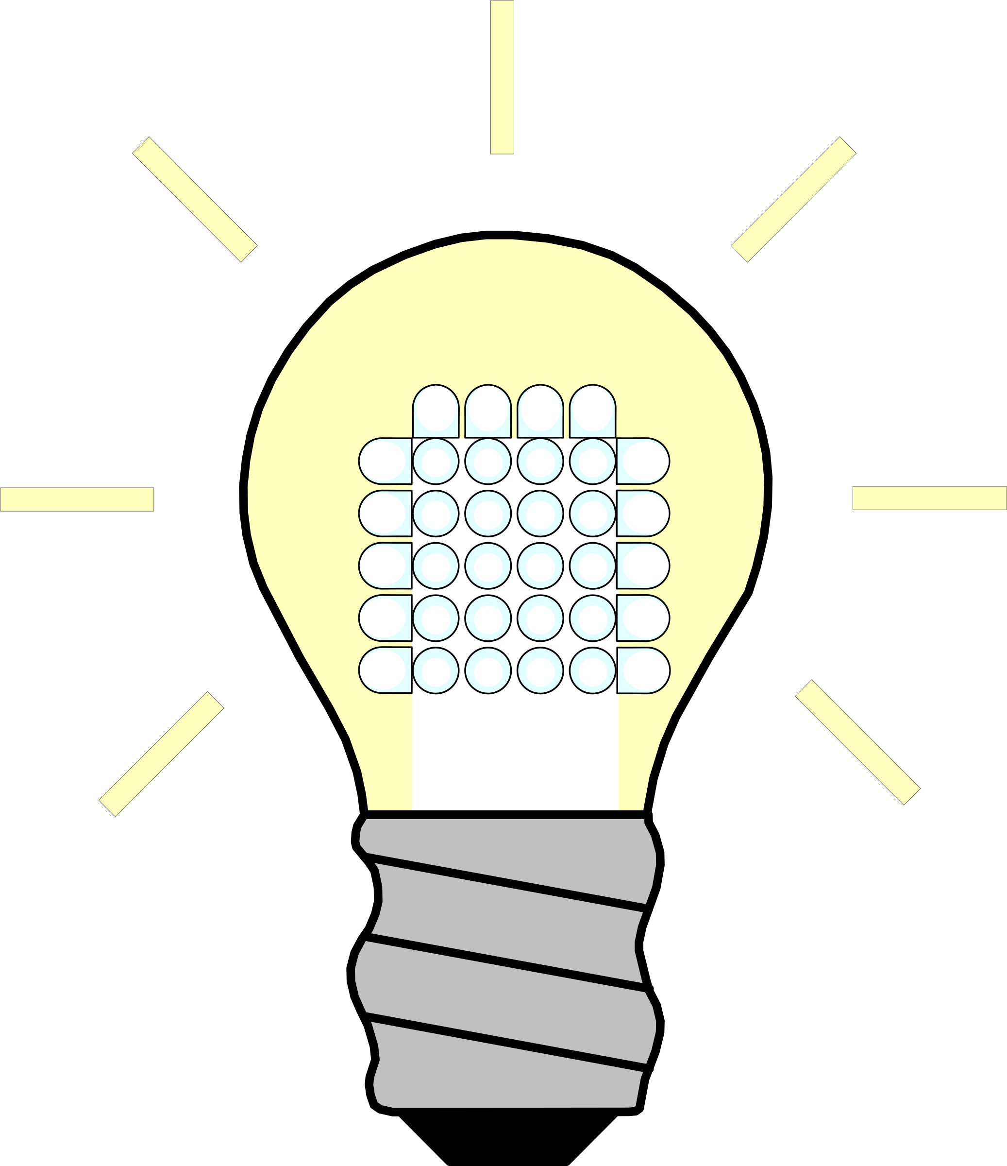 Glowing Light Bulb Png Clipart Light Bulb Led On