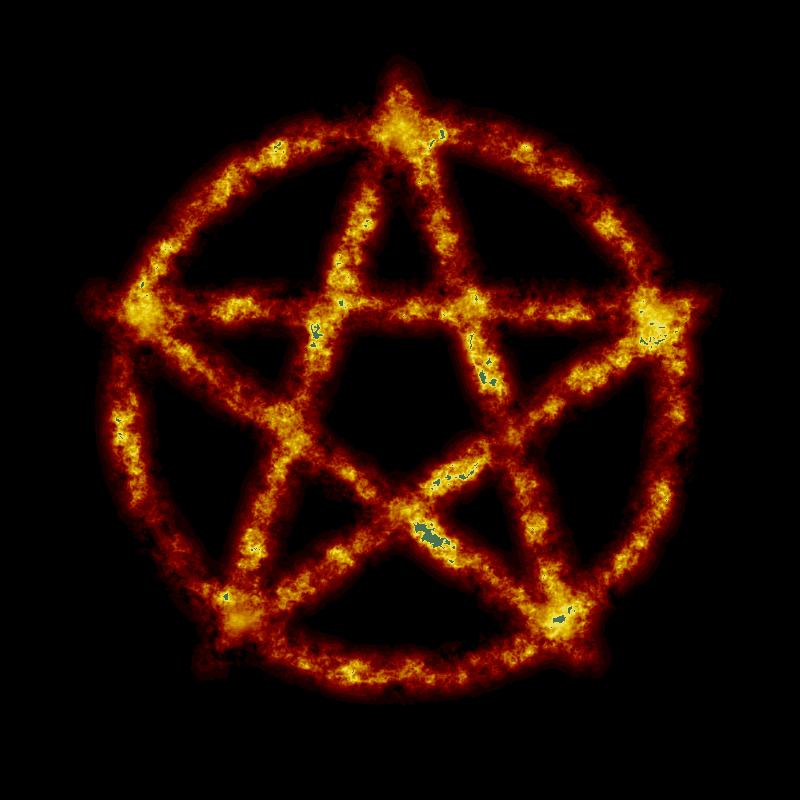 3d Devil Wallpaper Clipart Burning Pentagram