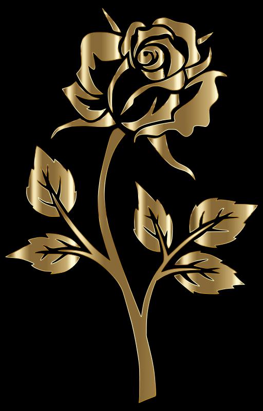 Black Flower Wallpaper Clipart Copper Rose Silhouette