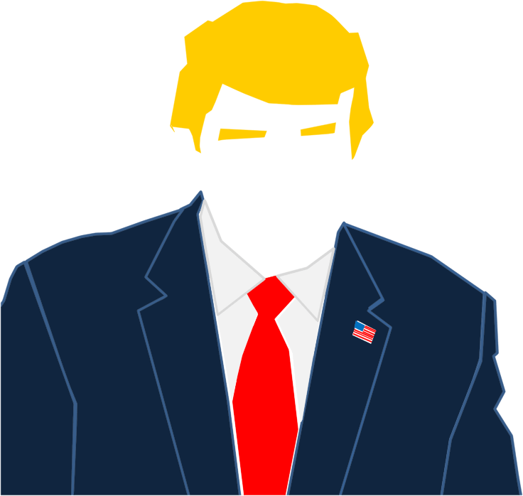 trump hair cartoon