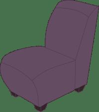 Clipart - Purple armless chair