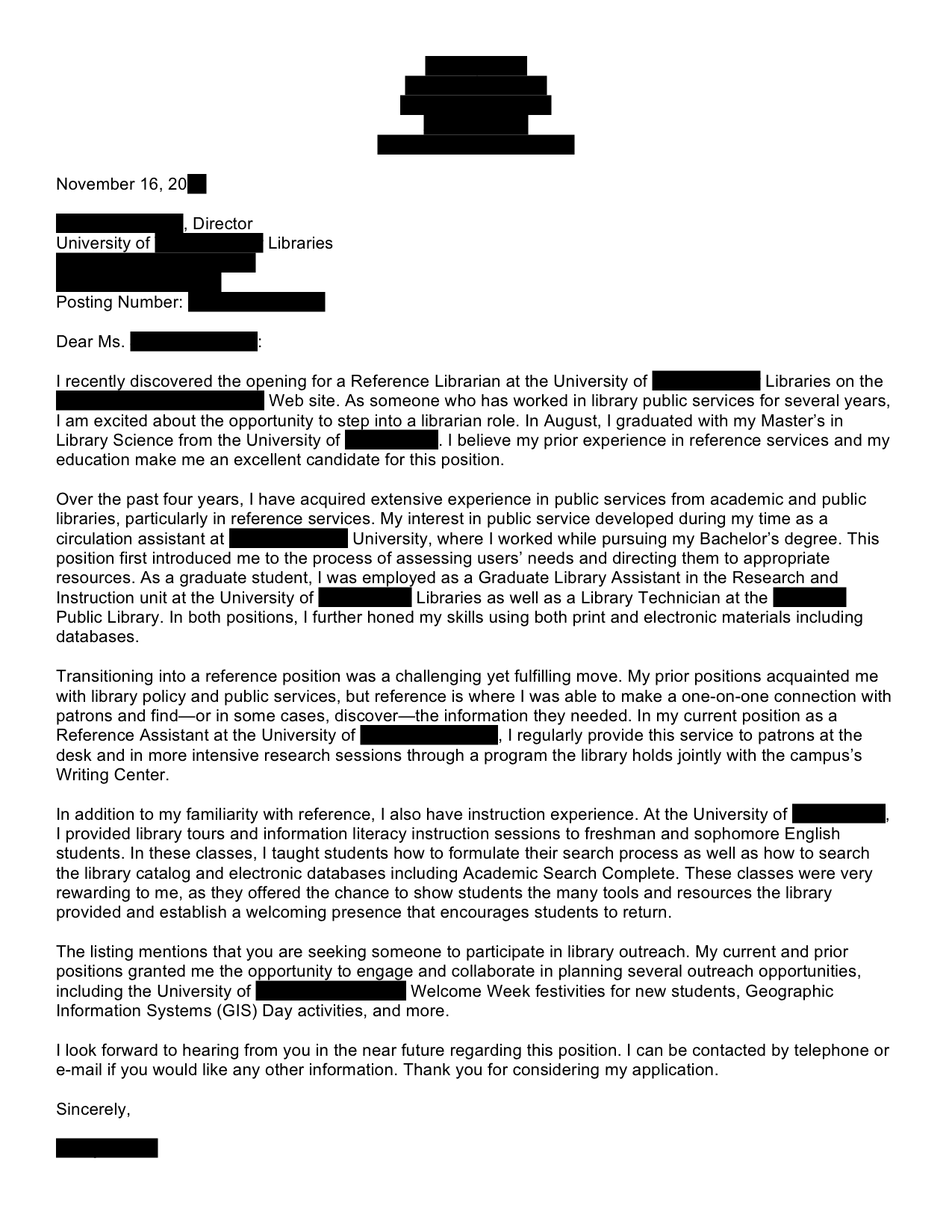 school librarian cover letter resume library school librarian cover letter - How To Write The Cover Letter