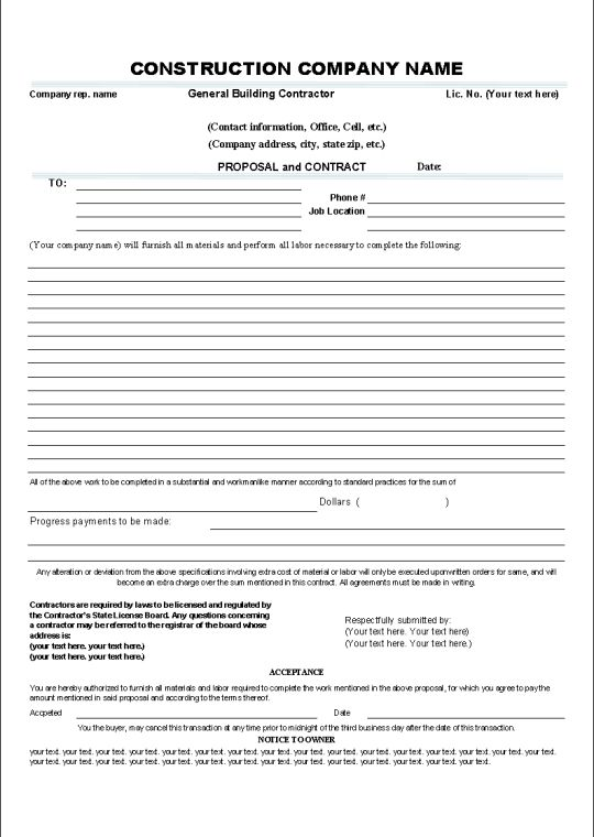 Contract Agreement Agreement Letters Cleaning Contracts Quotes