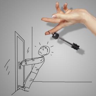 locked door & key