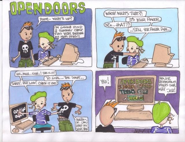 Summer Program Cartoon