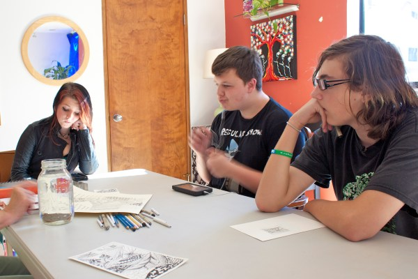 One of the classes offered at Open Doors is Zentangle, a relaxing and meditative form of art.