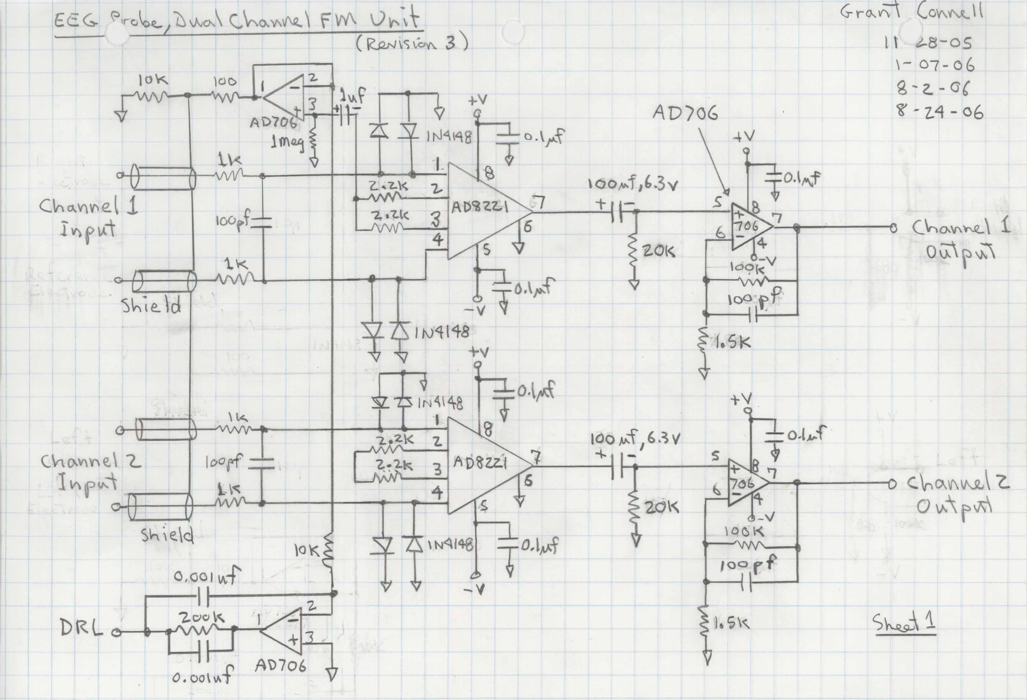 fig 2 eeg amplifier circuit diagram