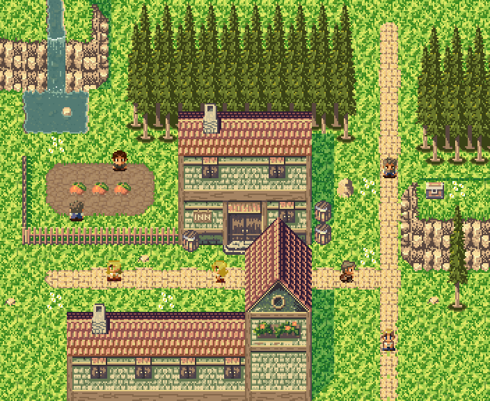 3d Wallpaper Maker Rpg Town Pixel Art Assets Opengameart Org