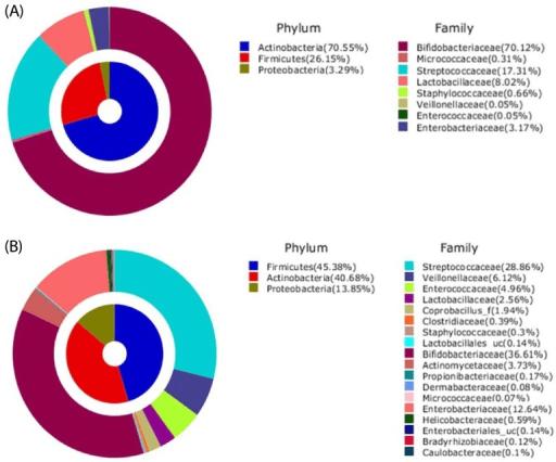 Aggregate Microbiota Composition At Pylum Family Level