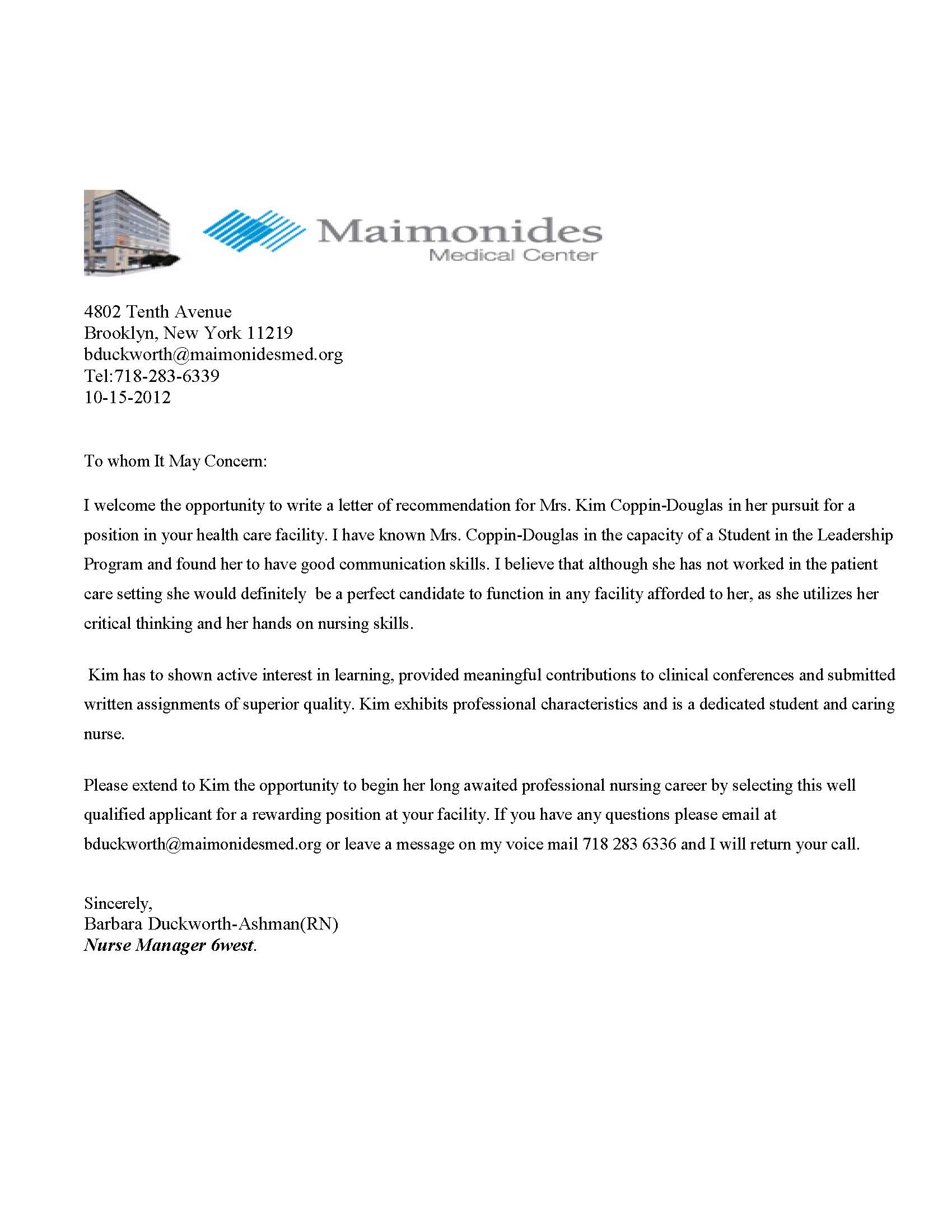 sample recommendation letter for student medical school sample recommendation letter for student medical school sample letter of recommendation medical school maimonides medical