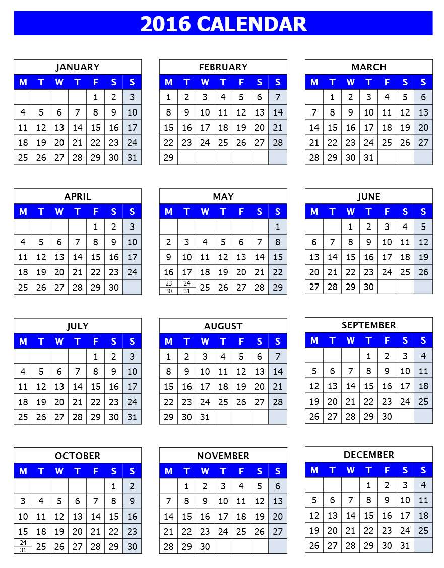 open office calendar template 2015