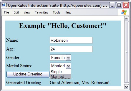 OpenRules Forms
