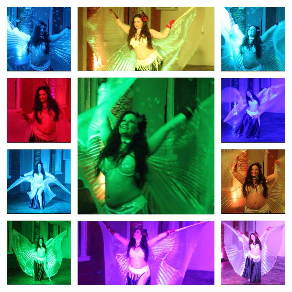 Belly dance with Open Show lighting