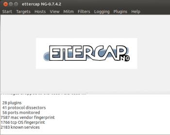 Screenshot1 Ettercap Menus