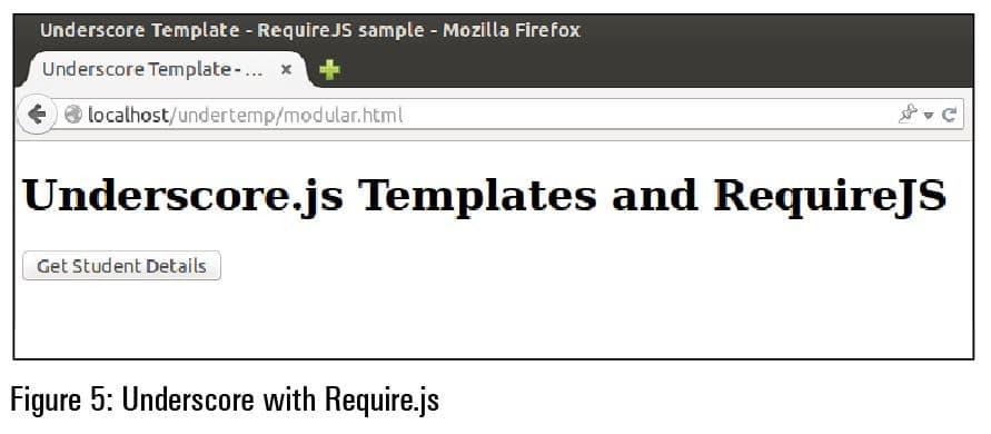 Underscore JavaScript Templates - underscore template
